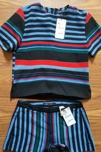 NWT Zara Top & Shorts